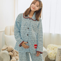 秋冬季加厚空气棉月子服夹层棉孕妇睡衣产妇产后可外出喂奶哺乳衣