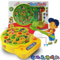 儿童益智音乐电动打地鼠玩具 大号敲击游戏机玩具