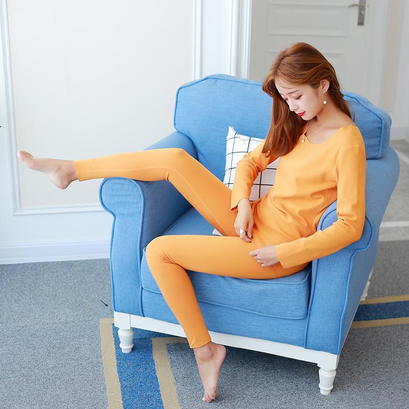 无痕保暖内衣套装女士加绒加厚发热美体秋衣秋裤套装女棉毛衫