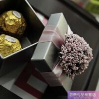 新款糖袋欧式马口铁个性创意喜糖盒子礼品物盒袋结婚礼庆用品小号