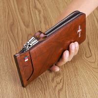 保罗防盗刷卡包男士多卡位超薄大容量真皮钱包银行卡套驾驶证皮套