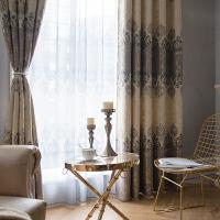 新款宫廷欧式遮光窗帘成品卧室客厅简约现代落地飘窗清新J