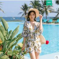 泳衣女分体三件套新款韩国ins风温泉裙式小香风比基尼游泳衣