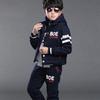 童装男童秋冬装2017新款儿童衣服加厚加绒三件套装中大童卫衣