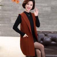 时尚妈妈秋冬装中长款针织开衫30岁40中年女春装修身显瘦马甲外套