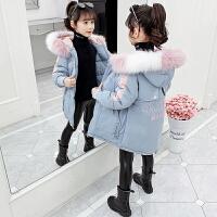 女童棉衣冬装外套儿童小女孩棉袄洋气中长款羽绒
