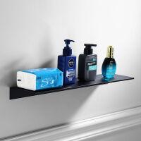 北欧简约黑色免打孔太空铝浴室置物架卫生间收纳架浴室化妆台壁挂 免