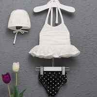 儿童游泳衣女孩泳衣分体公主裙式泳装蕾丝女童宝宝婴儿比基尼