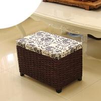 藤编多功能收纳凳子储物凳可坐收纳椅子儿童玩具整理箱换鞋凳