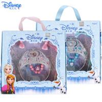 迪士尼儿童冰雪奇缘饰品皇冠手链发夹发绳配饰套装