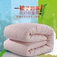 手工棉被定做新疆棉花被子里外棉棉被芯冬被春秋学生被褥T 1