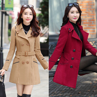 四十少妇三十多岁女人穿的2017新款毛呢外套女中长款韩版反季大衣