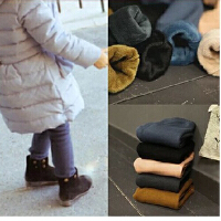 韩国童装冬款亲子装母女女童百搭加绒保暖打底裤儿童长裤