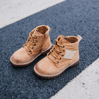 冬季儿童皮鞋战狼2017新款童鞋男童马丁靴系带宝宝真皮鞋子短靴潮