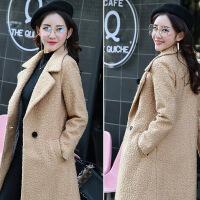毛呢外套女中长款加厚小个子2017新款时尚韩版学生百搭显瘦收腰冬