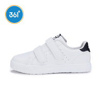 【超品日3折价:71.7】361度童鞋 儿童小白鞋男女童滑板鞋中大童运动休闲鞋子 N71842702