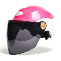 电动摩托车头盔男女夏季防晒轻便半覆式防紫外线电瓶机车安全帽