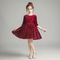 儿童礼服公主裙女童蓬蓬纱洋气花童主持人钢琴表演服秋冬季