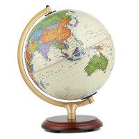 博目地球仪:25cm中英文政区仿古灯光地球仪