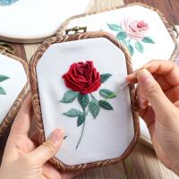 刺绣diy玫瑰花手工创意制作材料包3D立体丝带绣 复古玫瑰线绣
