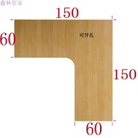 实木转角电脑桌双人办公桌简约L型书桌家用家具写字桌工作台