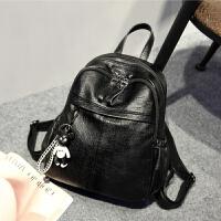 新款软皮双肩包韩版多功能潮流时尚女士背包休闲旅行包包