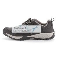 牧高笛户外秋季旅行登山徒步鞋透气减震防滑低帮系带男专业徒步鞋 钢琴黑