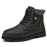 棉鞋男冬季保暖高帮板鞋男士休闲鞋学生雪地靴棉靴男鞋子
