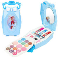 迪士尼儿童化妆品套装无毒公主彩妆盒女孩冰雪奇缘玩具指甲油口红