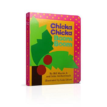 【英文原版】Chicka Chicka Boom Boom 叽喀叽喀碰碰(卡板书) 儿童启蒙认知字母书