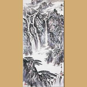 中国书画家协会会员、著名书画家孙金库先生作品――听泉