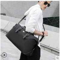 便携大方单肩斜挎包男士商务旅行包男大容量短途出差手提行李袋女