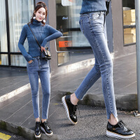 裤子修身显瘦甜美韩版时尚优雅可爱唯美口袋2018年春季 图片色