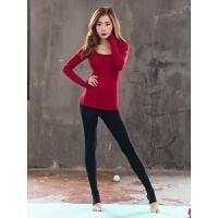 韩国秋冬季专业瑜伽服上衣女长袖运动套装长裤多色跑步健身服女