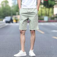 休闲短裤男夏天五分裤男宽松大裤衩运动中裤潮流5分纯棉沙滩裤男