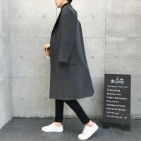 呢大衣男中长款青年呢子外套冬季韩版风衣男