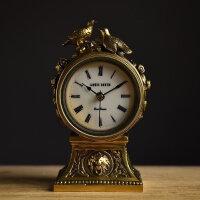 欧式创意纯铜座钟 家居房间卧室装饰品坐钟时尚客厅钟表爱台钟 T1023B