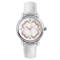 女士防水石英手表简约三针时尚水钻皮带腕表商务时装表女表