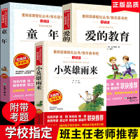 爱的教育/小英雄雨来/童年 全套3册快乐读书吧六年级上册