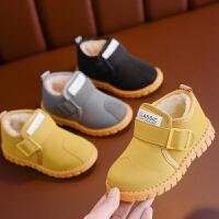 儿童雪地靴男童中筒靴子加绒宝宝棉靴防水冬季鞋短靴