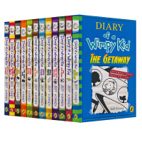 【首页抢券300-100】Diary of a Wimpy Kid 1-12 小屁孩日记 英文版12册盒装 儿童课外英语
