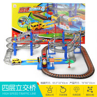 拖马斯小火车套装轨道警察汽车加油站过山车男孩子儿童玩具和谐号