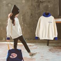 儿童卫衣2018新款韩版打底衫保暖冬季绒厚款上衣女孩
