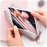 可爱韩国小清新铅笔袋 学生初中高中韩版简约大学生男女文具盒