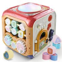 婴儿音乐手拍鼓儿童多功能益智六面体宝宝拍拍鼓6-12个月早教玩具