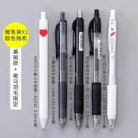 日本百乐限定按动中性笔学生用黑色学霸刷题笔大容量文具用品 爱心限定组合+羽毛限定 送笔袋