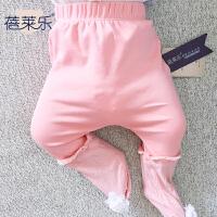 女婴儿春秋款裤子6个月宝宝新生儿休闲长裤打底裤春秋装