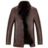 冬装新款皮衣男士外套潮流休闲修身中青年皮夹克皮草男装