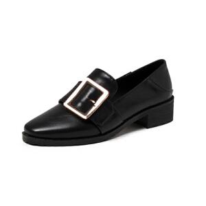 O'SHELL法国欧希尔新品020-a36-7欧美超纤皮低跟女士懒人鞋