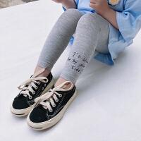 中小童装打底裤女童九分裤儿童纯色裤子宝宝修身夏装